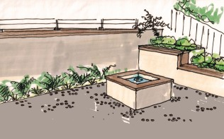 Bernal Heights Fountain Seat Wall Concept07112014